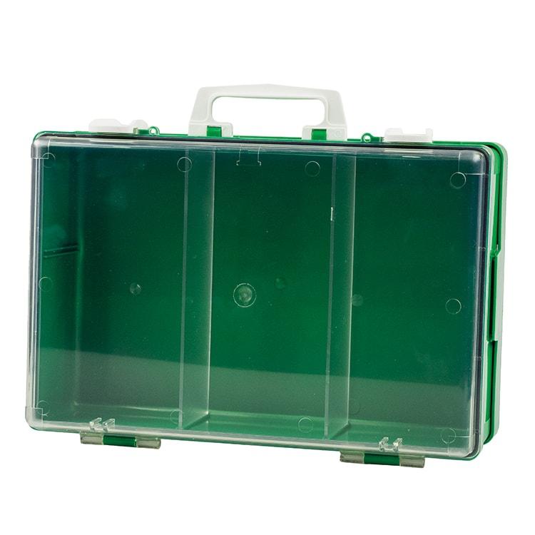 Koffer groen met transparant deksel 39 x 27 x 13 cm