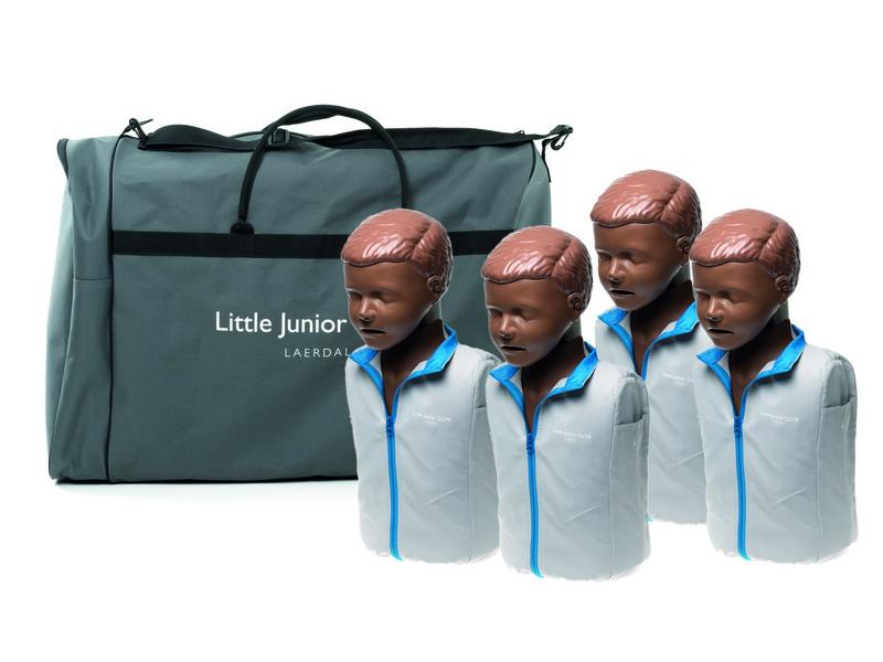 Little junior QCPR 4-pack, donkere huid