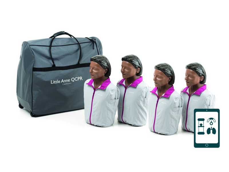 Little Anne QCPR 4-pack, donkere huid