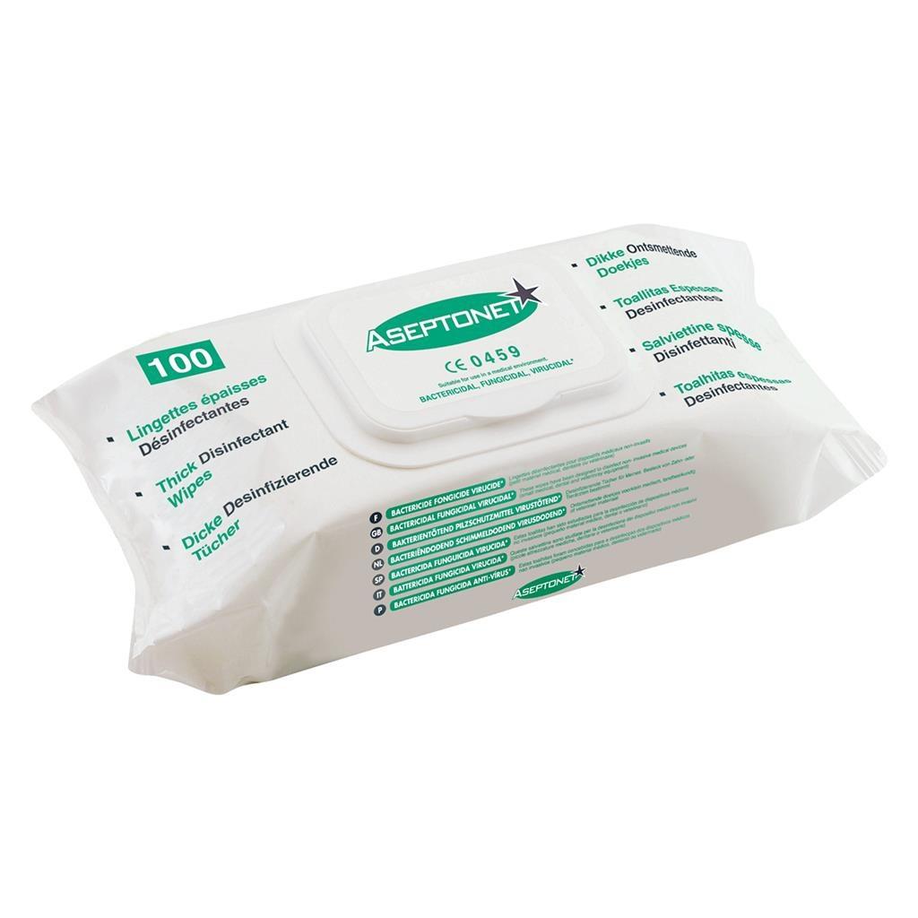 Aseptonet ontsmettingsdoekjes Pop-Up Bag 18 x 20 cm