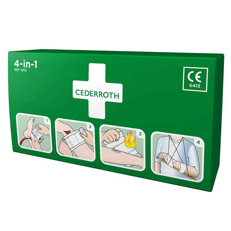 Cederroth 4-in-1 bloedstelpende verbanden per stuk