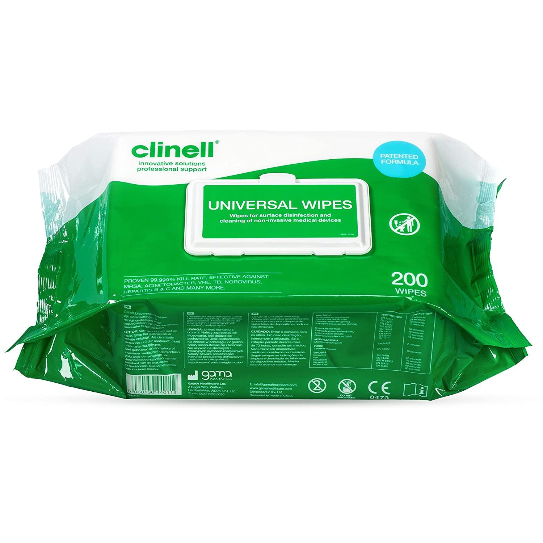 Clinell universele ontsmettingsdoekjes per 200 stuks