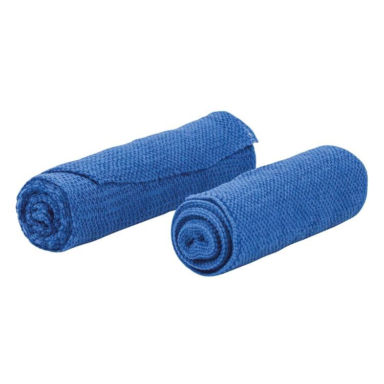 Blauwe elastische gaaswindsels